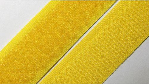 20мм Лента контактная (липучка) желтая