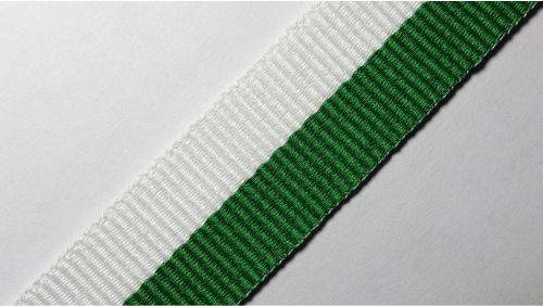 20мм Лента для медалей р.2598 бел/зеленая