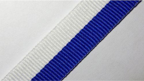 20мм Лента для медалей р.2598 бел/синяя