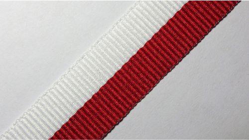 20мм Лента для медалей р.2598 бел/красная