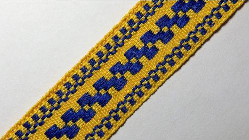 20мм Лента с орнаментом р.3120 желтая/синяя