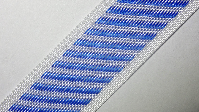 35мм Лента для отделки матрасов р.3388 бел/синий