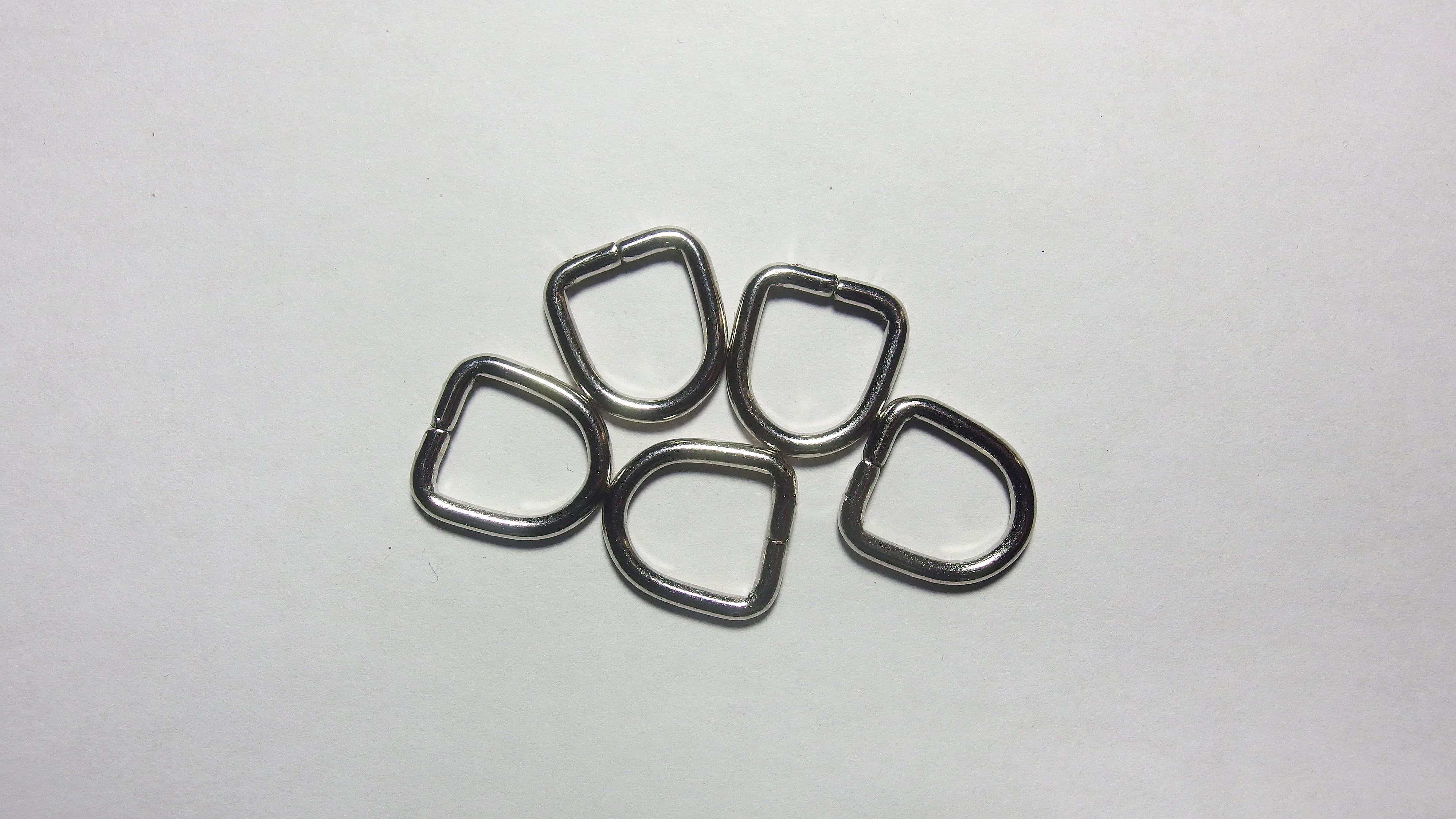 13мм Полукольцо металлическое 4226 никель
