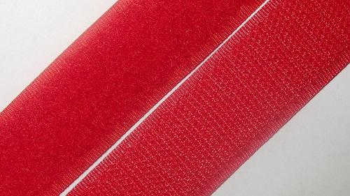 25мм Лента контактная (липучка) красная