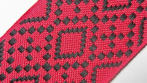 50мм Лента с орнаментом р.2948 красная/черная