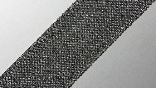 25мм Лента окантовочная люрекс р.3268 серебро