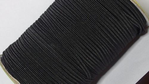 03 Лента эластичная (резинка), 100м, черная
