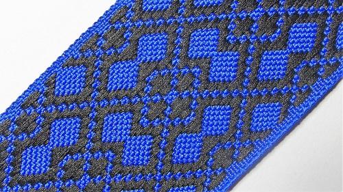 40мм Лента с орнаментом р.2950 синяя/черная