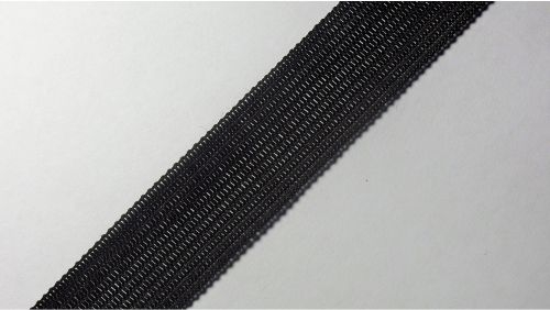18мм Лента окантовочная вязаная лямовка) черная 18-200