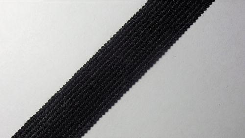 18мм Лента окантовочная вязаная лямовка) черная 18-360