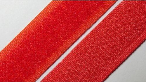 20мм Лента контактная (липучка) красная