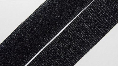 20мм Лента контактная (липучка) черная