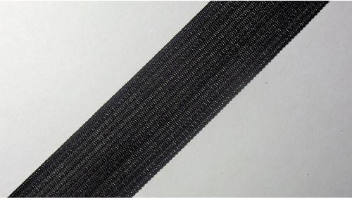 23мм Лента окантовочная вязаная лямовка) черная 23-210