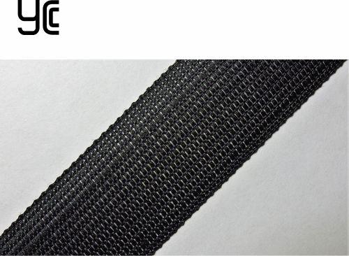 23мм Лента окантовочная вязаная лямовка) черная 23/320