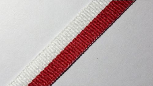 15мм Лента окантовочная репсовая р.2467 бел/красная