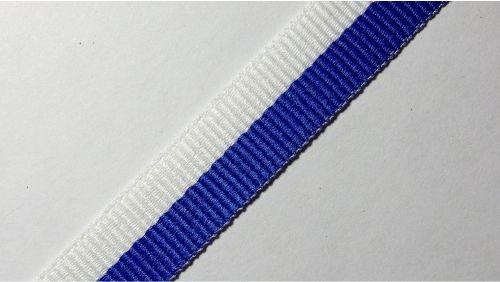 15мм Лента окантовочная репсовая р.2467 бел/синяя