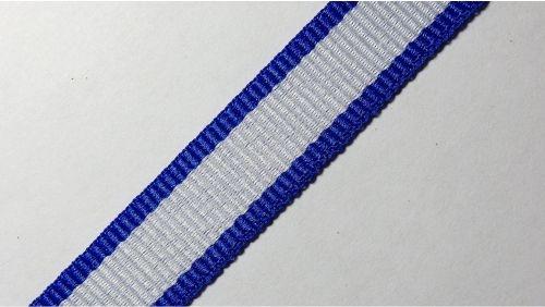 15мм Лента окантовочная репсовая р.2467-2 бел/синяя