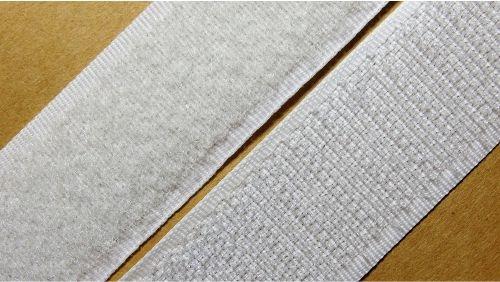 25мм Лента контактная (липучка) белая