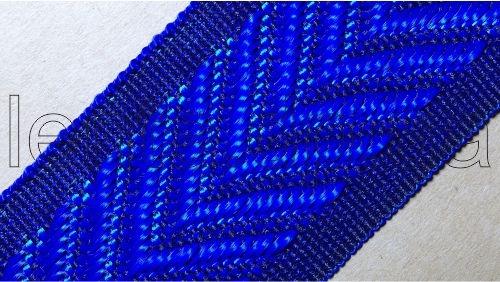 40мм Лента для отделки матрасов р.2698 синяя (40мм)