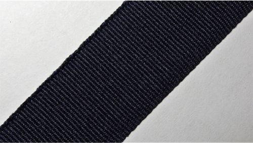 25мм Лента окантовочная репсовая р.2724 т.синяя