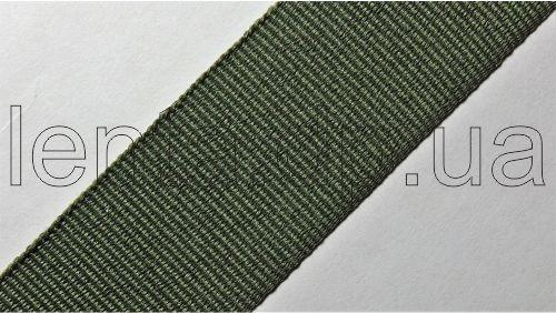 25мм Лента окантовочная репсовая р.2724 хаки