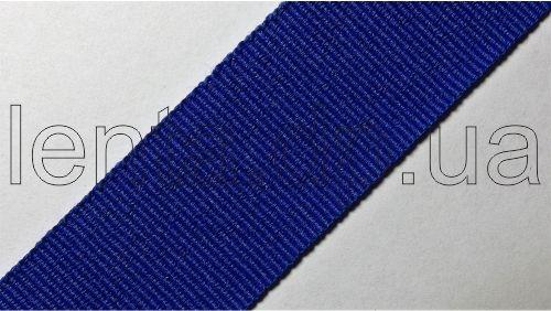 25мм Лента окантовочная репсовая р.2724 синяя