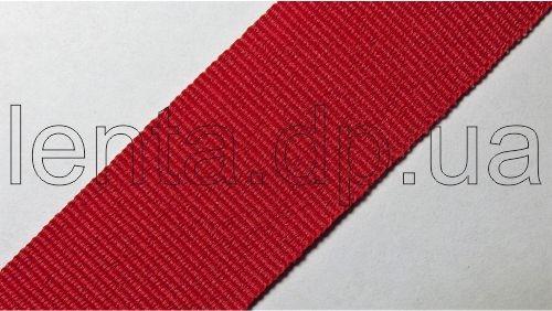 25мм Лента окантовочная репсовая р.2724 красная