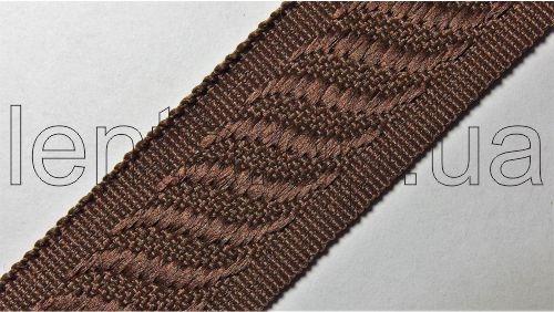 24мм Лента окантовочная р.2840 коричневая
