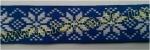 25мм Лента с орнаментом р.2954 синяя/белая