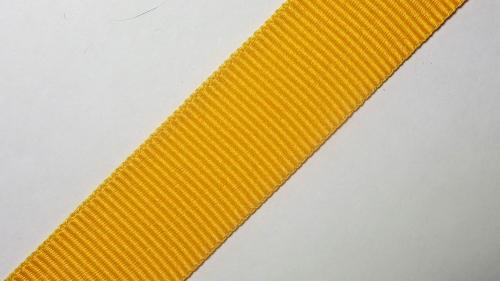 25мм Лента окантовочная репсовая р.3118 желтая