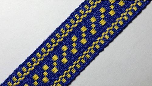 20мм Лента с орнаментом р.3120 синяя/желтая