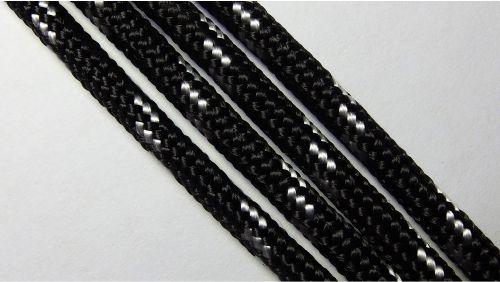 Шнур плетеный с наполнителем р.3276 черный
