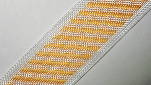 35мм Лента для отделки матрасов р.3388 бел/оранж