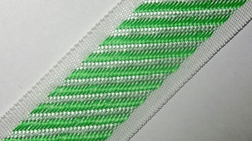 40мм Лента для отделки матрасов р.3410 бел/зеленая