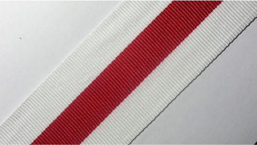 40мм Лента лампасная р.3534 бел/красная
