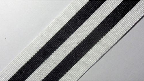 40мм Лента лампасная р.3536 бел/черная