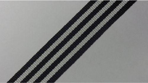20мм Лента лампасная р. 3582 черная/белая