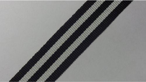 20мм Лента лампасная р. 3584 черная/белая