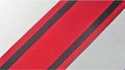 40мм Лента лампасная р. 3594 красная/черная