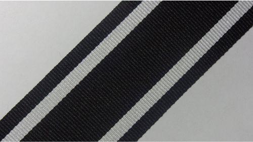 40мм Лента лампасная р. 3586 черная/белая