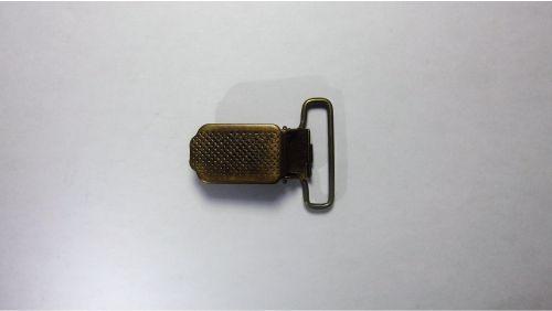 25мм Прищепка для подтяжек 4104 антик