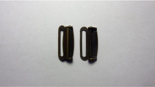 25мм Зажим метеллический для подтяжек 4112 антик