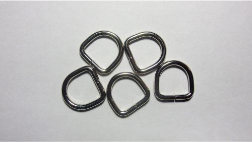 17мм Полукольцо металлическое 4226 никель