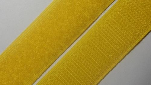 25мм Лента контактная (липучка) желтая