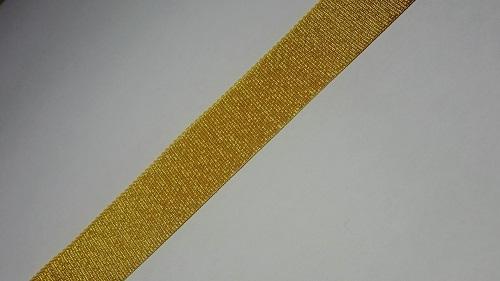 20мм Лента окантовочная люрекс р.3126 золото