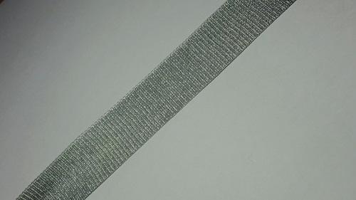 20мм Лента окантовочная люрекс р.3166 серебро