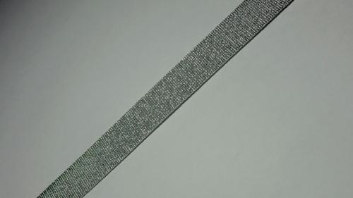 15мм Лента окантовочная люрекс р.3442 серебро