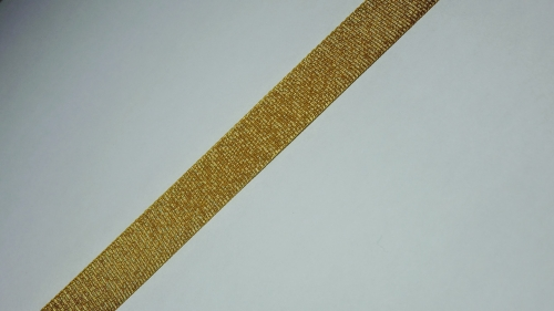 15мм Лента окантовочная люрекс р.3442 золото