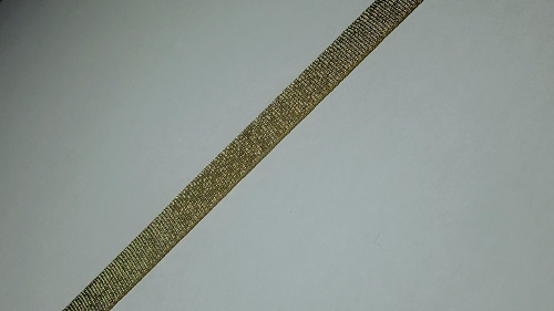 10мм Лента окантовочная люрекс р.3344 бронза