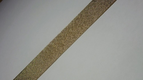 20мм Лента окантовочная люрекс р.3166 бронза